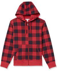 Amazon Essentials Full-Zip Hooded Fleece Sweatshirt Fashion-Hoodies - Rosso