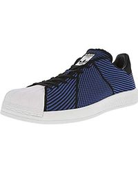 Lyst - Adidas Originals Superstar Bounce Shoes in Blue for Men 9019c70c1