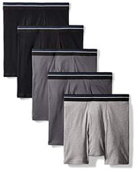 Amazon Essentials 5-pack Tag-free Boxer Briefs - Gray