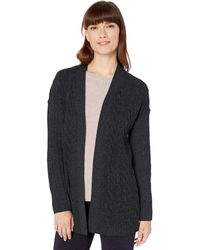 Amazon Essentials Cable Open-Front Sweater Pullover - Noir