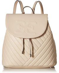 Sam Edelman Elise Quilted Flap Backpack - Natural