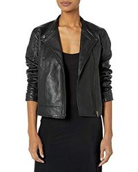 Cupcakes And Cashmere - Deana Leather Moto Jacket - Lyst