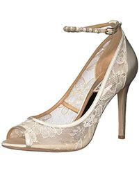 47fa6162640b Lyst - Gucci  lesley  Ankle Strap Pump in White