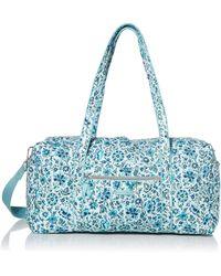 Vera Bradley Signature Cotton Lay Flat Travel Duffel Travel Bag - Blue