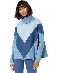 Ella Moss Oversized Denim Pullover - Blue
