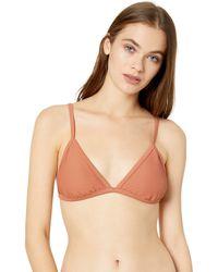 Billabong Tanlines Fixed Tri Bikini Top - Brown