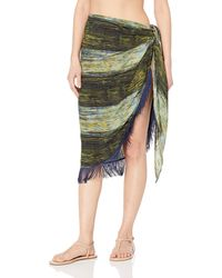 Vince Camuto Pareo Cover Up With Fringe - Green