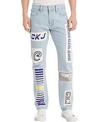 Calvin Klein Straight Fit Jeans - Blue