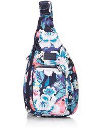 Vera Bradley Recycled Lighten Up Reactive Mini Sling Backpack - Blue