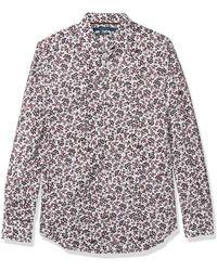Perry Ellis Long Sleeve Blossom Print Shirt - Multicolor