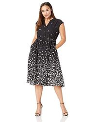 Anne Klein - Size Plus Cap Sleeve Drawstring Midi Dress - Lyst