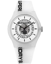 Superdry Quartz Plastic And Silicone Casual Watch, Color:white (model: Syg168w) - Multicolor