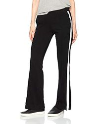 Pam & Gela Wide Leg Trackpant - Black
