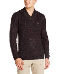 U.S. POLO ASSN. - Marl Crossover Sweater - Lyst