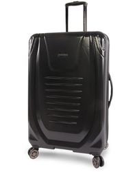 """Perry Ellis Bauer 29"""" Hardside Checked Spinner Luggage - Black"""