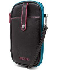 Skechers Rfid Cell Phone Crossbody Bag Wallet - Black
