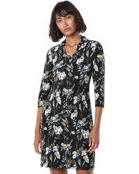Nine West Draped Neckline Dress - Black