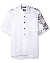 True Religion - Marijuana Leaf Print Slouchy Woven Shirt - Lyst