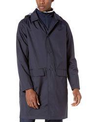 Lacoste Raincoat Detachable Hood 3 Layers Polyester Taffetas - Blue
