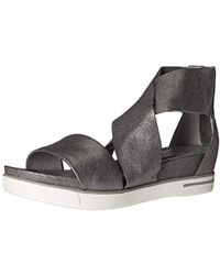 7e429a110d30 Lyst - Eileen Fisher Sport Perforated Sneaker Sandal in Blue