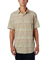 Columbia Big And Tall Under Exposure Yarn Dye Short Sleeve Shirt - Multicolor
