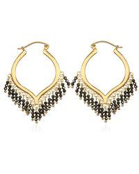 Satya Jewelry Pyrite Gold Chandelier Earrings - Metallic
