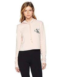 Calvin Klein - Jeans Monogram Logo Hoodie Sweatshirt, - Lyst