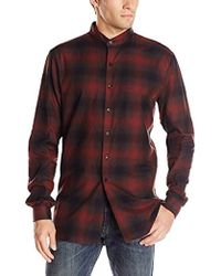 Naked & Famous - Shadow Check Shirt - Lyst