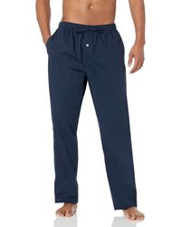 Amazon Essentials Straight-fit Woven Pajama Pant - Blue