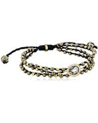 Tai - Triple Pyrite Charcoal Stone Strand Bracelet - Lyst