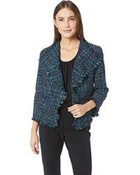 Anne Klein - Fringe Tweed Jacket - Lyst