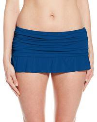 Kenneth Cole Reaction Shuffle Skirted Bikini Bottom - Blue