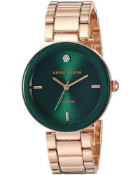Anne Klein Ak/1362gnrg Quartz Metal And Alloy Rose Gold-toned Dress Watch - Multicolor