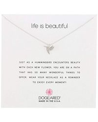 Dogeared - Sterling Silver Life Is Beautiful Reminder Necklace - Lyst