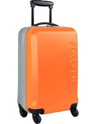Nautica Ahoy Hardside Expandable 4-wheeled Luggage-2 Piece Bundle - Orange
