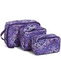 Vera Bradley Packable Packing Cube Set - Blue