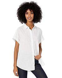 Goodthreads Amazon Brand - Washed Cotton Short-sleeve Shirt - White