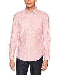 Original Penguin - Long Sleeve Stripe Cotton Linen Shirt - Lyst