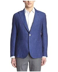 Hardy Amies - 2 Button Patch Pocket Peak Lapel Linen Sportcoat - Lyst