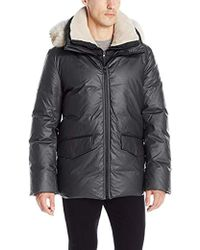 SOIA & KYO - Pierrick Down Coat With Fur Lined Hood - Lyst