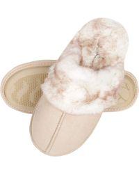 Jessica Simpson Comfy Faux Fur S House Slipper Scuff Memory Foam Slip On Anti-skid Sole - White