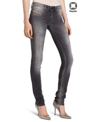 68c23109 DIESEL Livier Low Rise Skinny Jeans - Blue in Blue - Lyst