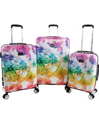 Bebe Megan 3pc Suitcase Set With Spinner Wheels - Multicolor