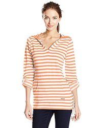 Marc New York Stripe Roll Sleeve Fleece Tunic - Multicolor