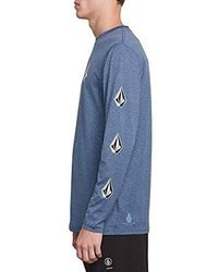 Volcom Deadly Stones Long Sleeve Surf Shirt Rashguard - Blue
