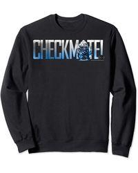 Perry Ellis In Black Check Mate Pawny Portrait Sweatshirt - Blue