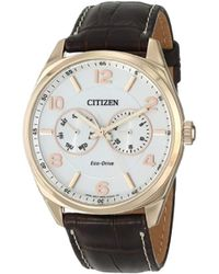 Citizen - Eco-drive Rose Goldtone Watch - Lyst