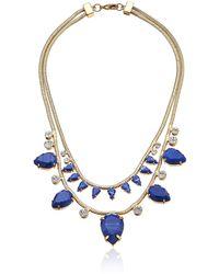 Noir Jewelry Jet Snake Gold Statement Necklace - Multicolor