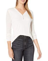 Splendid Long Sleeve Henley Shirt - White