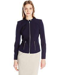 Calvin Klein - Lux Jacket With Zipper - Lyst